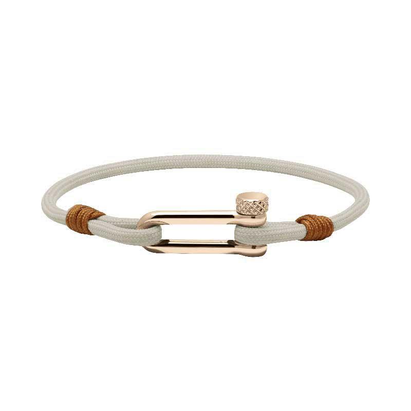 Bracelets à manille ROCHET - Cuir, nylon et cordage