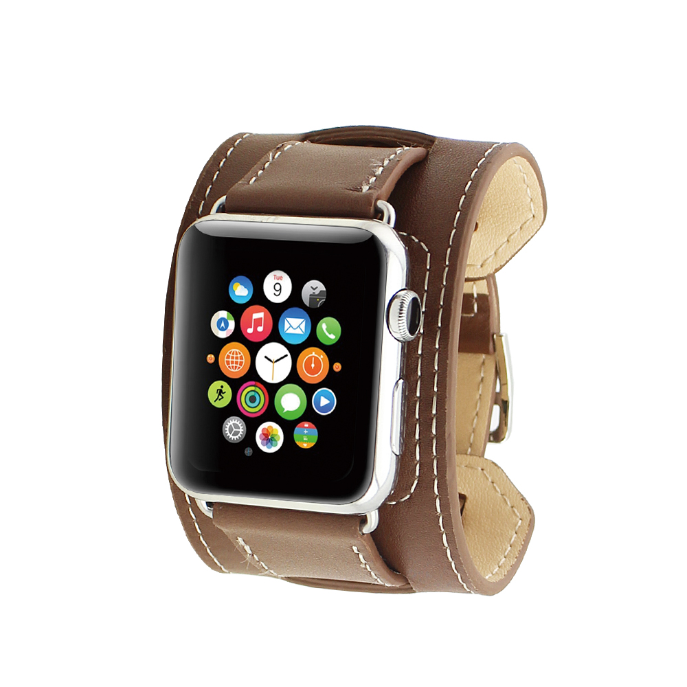 bracelet cuir apple watch 42. Black Bedroom Furniture Sets. Home Design Ideas