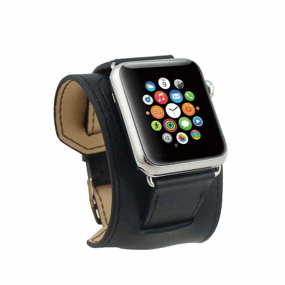 bracelet cuir apple watch sport bijoux la mode. Black Bedroom Furniture Sets. Home Design Ideas