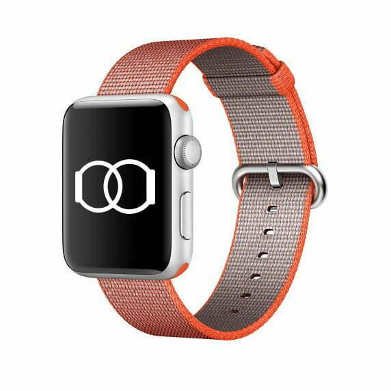 Bracelet orange gris en Nylon tissé Apple Watch 38mm