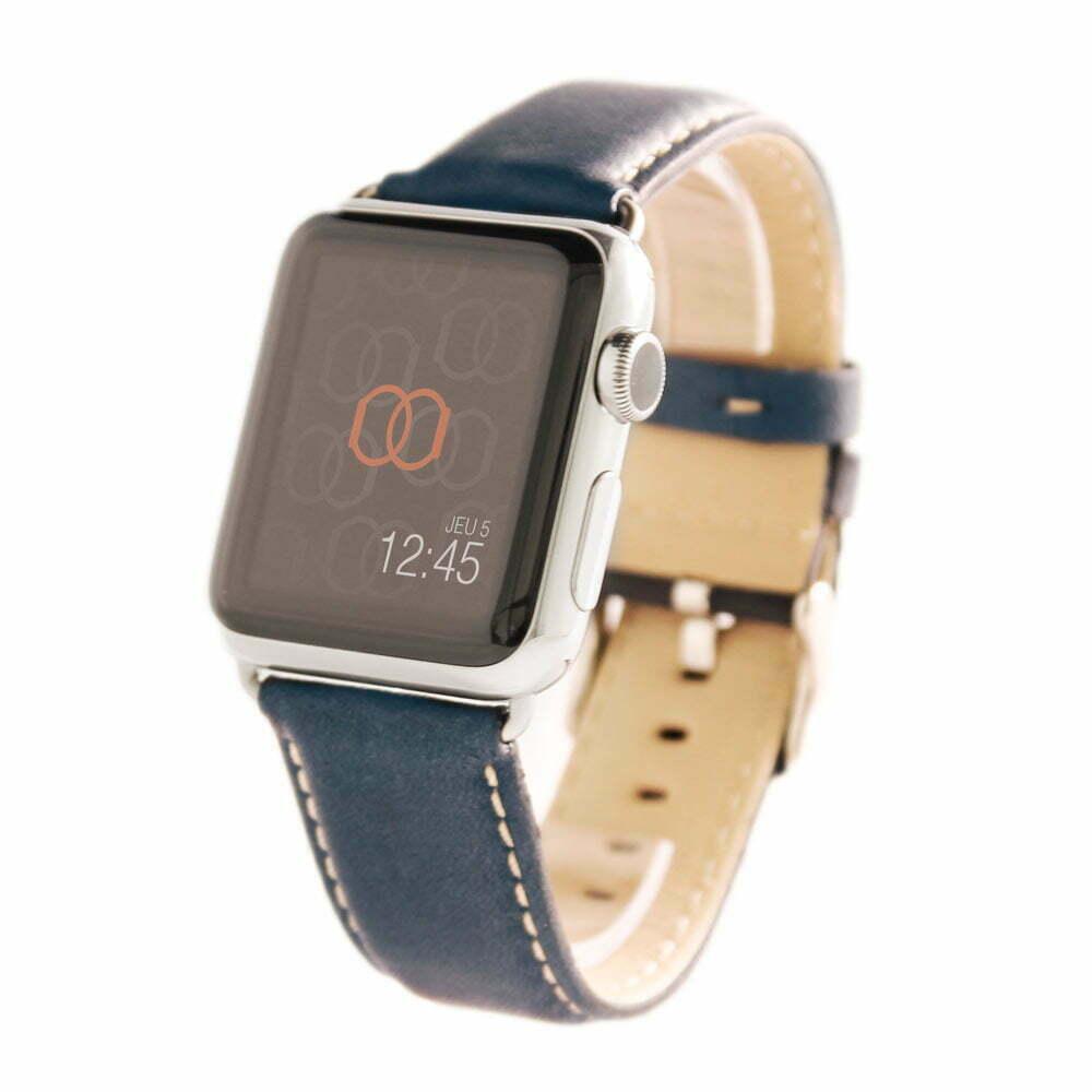 Astralis Apple Watch - Bracelet cuir de taureau étanche