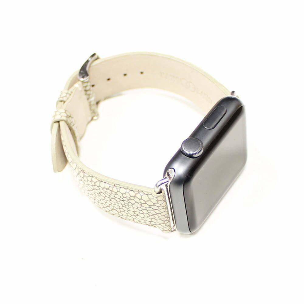 grain galuchat apple watch bracelet cuir de veau band band. Black Bedroom Furniture Sets. Home Design Ideas