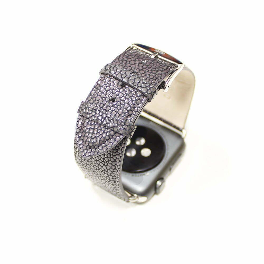 Grain galuchat Apple Watch - Bracelet cuir de veau