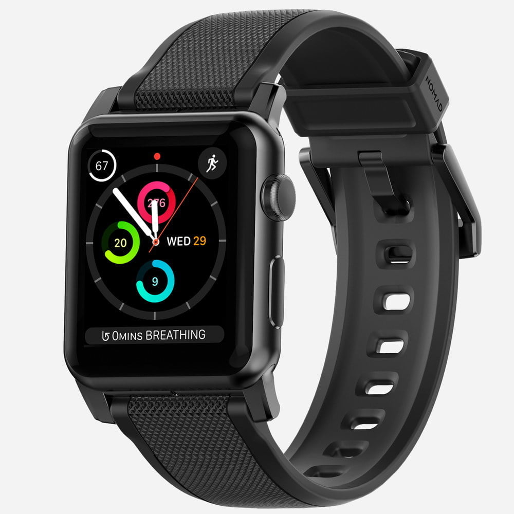 Nomad - Silicone Noir - Apple Watch