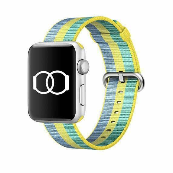 Bracelet citronnade en Nylon tissé Apple Watch 38mm