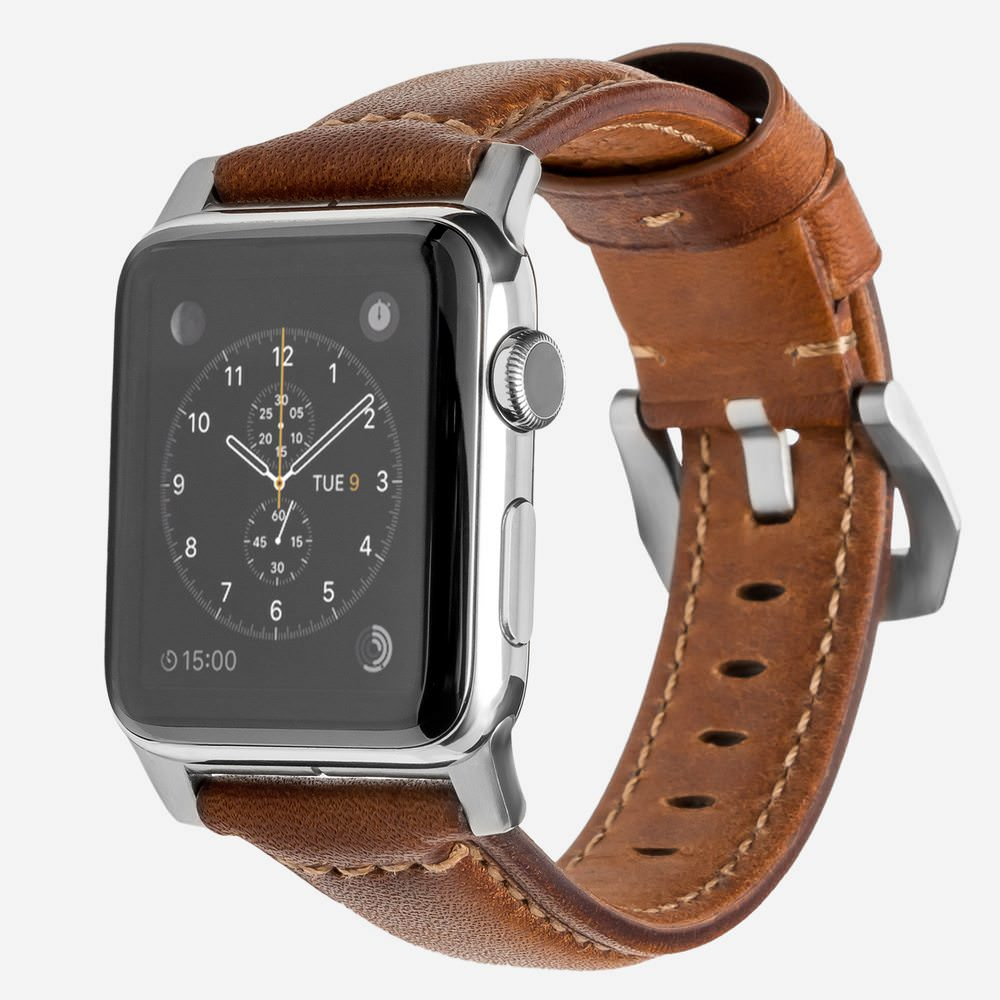 Nomad - Traditionnel - Bracelet cuir Apple Watch