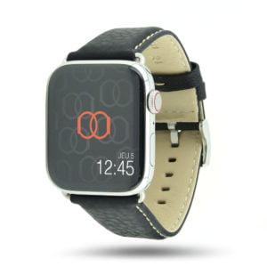 Astralis noir Apple Watch - Bracelet cuir de taureau étanche