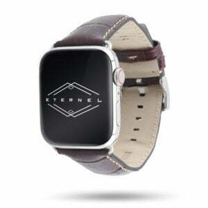 Sobek marron Apple Watch - Bracelet cuir de veau grain alligator