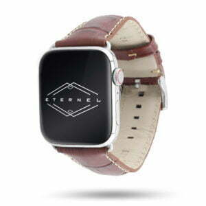 Sobek Apple Watch - Watchbands in calf leather alligator grain