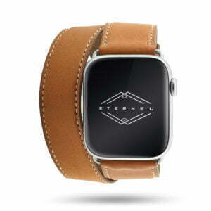 Double tour Band-Band Paris - Calfskin Apple Watch