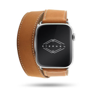 Double tour Eternel Paris - Cuir de veau Apple Watch