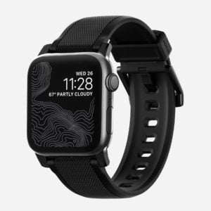 Nomad - Silicone Black strap - Apple Watch