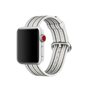 Bracelet en nylon tissé Apple Watch noir rayé