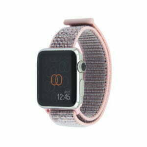 Boucle sport Rose des sables - Nylon tissé - Apple Watch