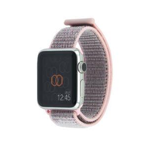 Boucle sport Rose des sables - Nylon tissé - Apple Watch