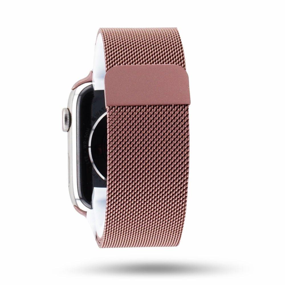 Adaptateur Apple Watch-noir mat-Rosé or Acier Inoxydable Brillant 20 mm