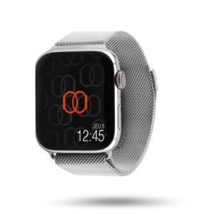 Milanese loop watch band in woven stainless steel mesh - Apple Watch