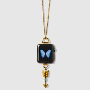 Bucardo - Collier Apple Watch avec charm flèche