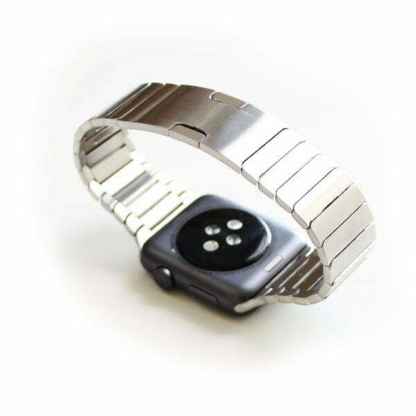 Detachable links watch band in stainless steel for Apple