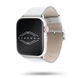 Bracelet Réveillon doublure cuir nubuck - Eternel Made in France - Apple Watch