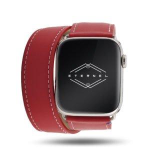 Double tour Band-Band Paris – Calfskin Apple Watch