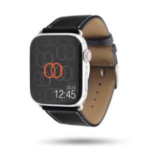 Bracelet Apple Watch simple tour Eternel Paris  – Cuir de veau