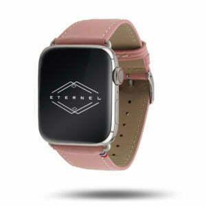Bracelet Apple Watch simple tour Eternel Paris  – Cuir de vachette graissé