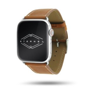 Apple watch handmade band simple tour Eternel Paris – Greased cowhide leather