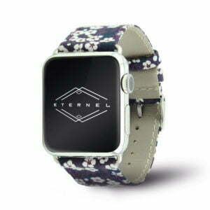 Bracelet Flower Power en tissu - Eternel Apple Watch