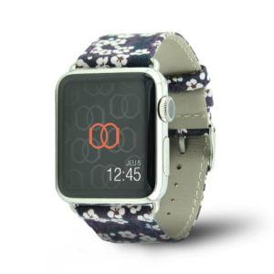 Bracelet Flower Power en tissu - Band-Band Paris Apple Watch