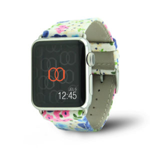 Bracelet Flower Power en tissu - Band-Band Paris Apple Watch
