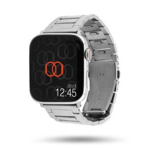 Inoxy - Bracelet Apple Watch à maillons détachables sans outil - avec boucle papillon