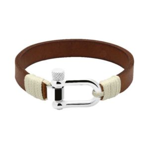 ROCHET manila bracelets - Leather, Nylon and Rope - Portofino leather gold
