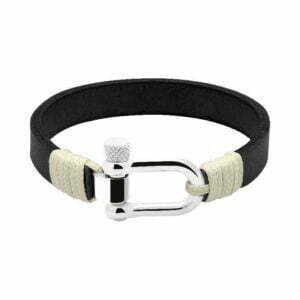 ROCHET manila bracelets - Leather, Nylon and Rope - Portofino leather black
