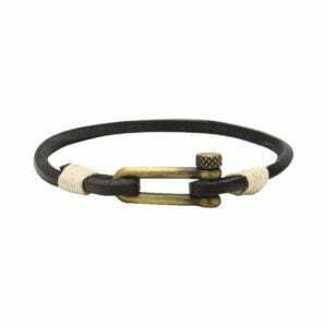 ROCHET manila bracelets - Leather, Nylon and Rope - St Barth leather black