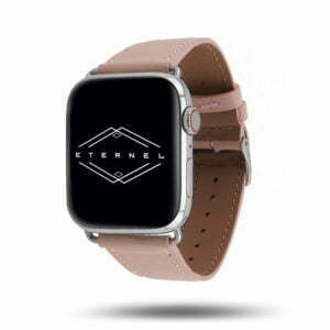 Bracelet Apple Watch simple tour Eternel Paris  – Cuir de veau