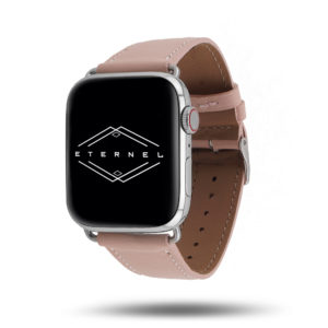 Bracelet Apple Watch simple tour Eternel Paris  – Cuir de vachette graissé