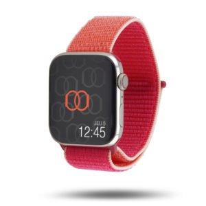 Boucle sport nylon tissé bicolore - Collection Fin 2019 - Apple Watch