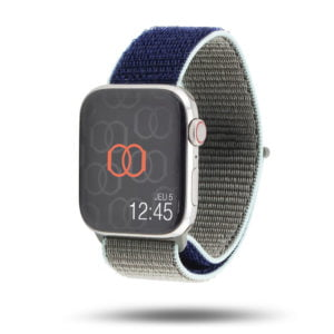 Boucle sport nylon tissé bicolore - Collection Fin 2019 - Apple Watch