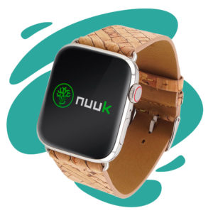 Nuuk - Agave the power - Bracelet végan liège motif agave - Apple Watch