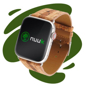 Nuuk - Bamboogie - Cork with bamboo pattern - Vegan band Apple Watch