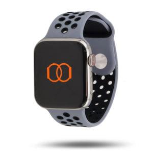 Bracelet sport respirant Apple Watch - 100% fluoroélastomère