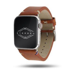Vintage Logan Apple Watch – Bracelet cuir pleine fleur
