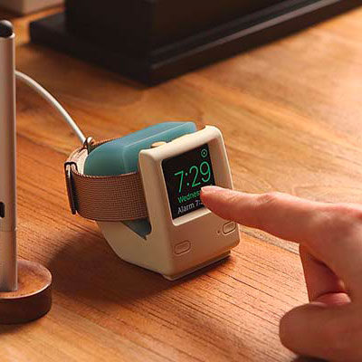 Socle de recharge retro iMac 1998 pour Apple Watch