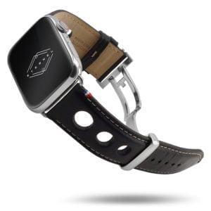 Rallye Apple Watch – Bracelet cuir vachette avec boucle déployante