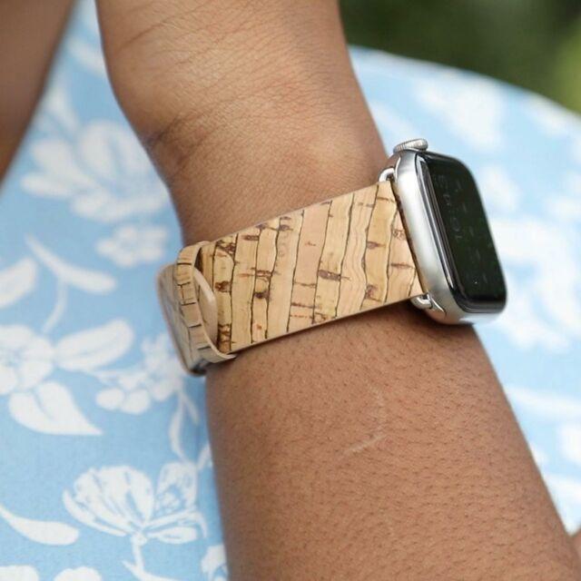 🌱Les bracelets végans Apple Watch @nuuk_applewatch mis en lumière par la ravissante Belinda @mac4ever et @didierm4e #applewatch #apple #applewatchband #watchporn #watchesofinstagram #applewatchfanz #instawatch #bamboogie #agavepower #vegan #pinacolada