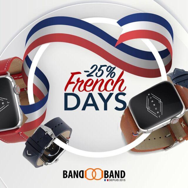 🚨French 🇫🇷 days avec 25% de réduction sur tous les bracelets Made in France jusqu'au 27/09   Lien en bio vers les bracelets éligibles  #applewatch #Frenchdays #applewatchbands #discount #madeinfrance